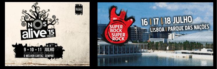 NOS Alive e Super Bock Super Rock avançam confirmações para 2015